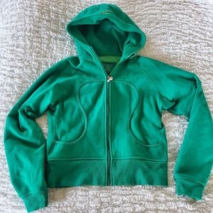 Lululemon Scuba size 12 green full zip hoodie